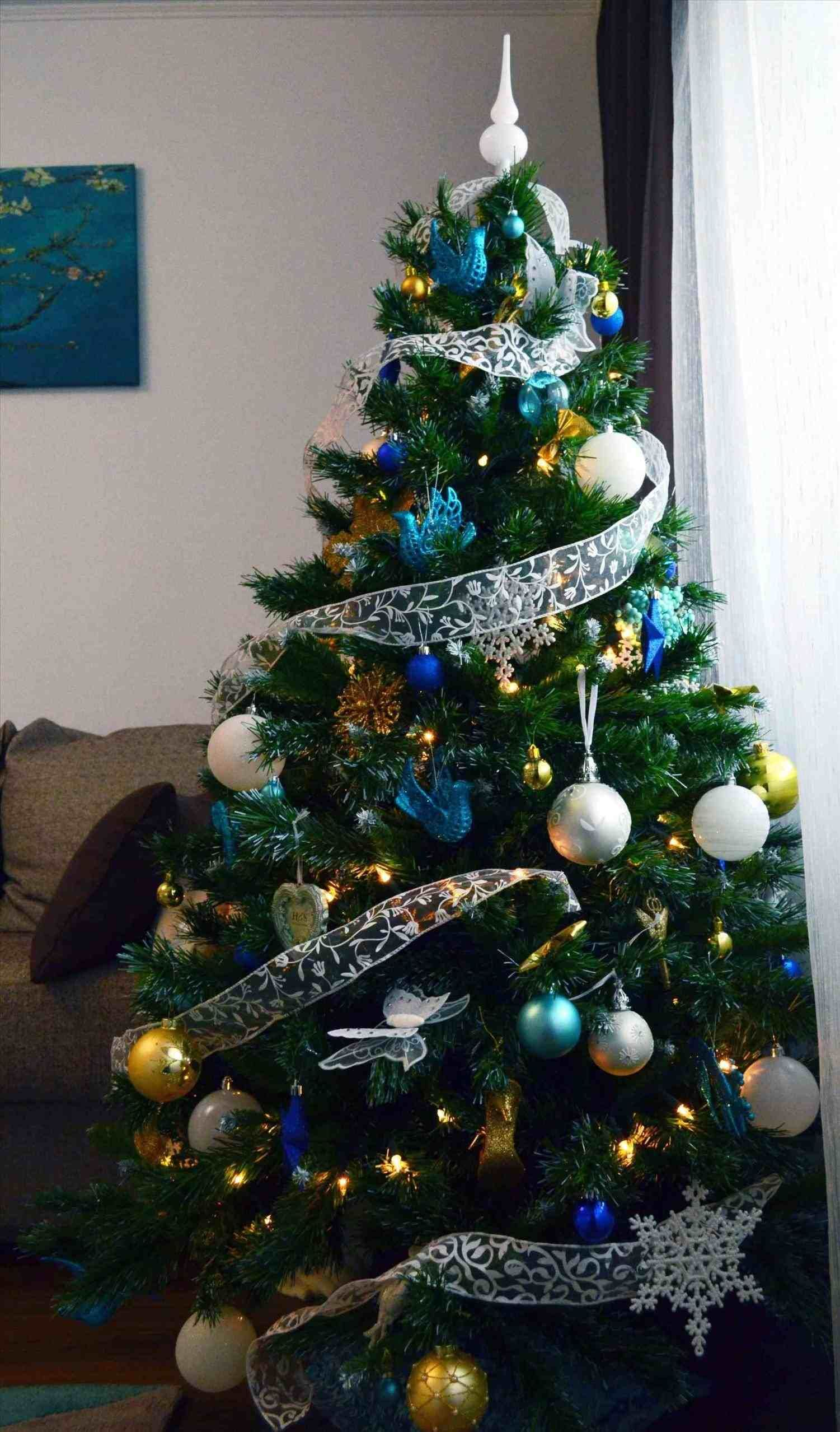 New Post blue and silver christmas tree decorations ideas