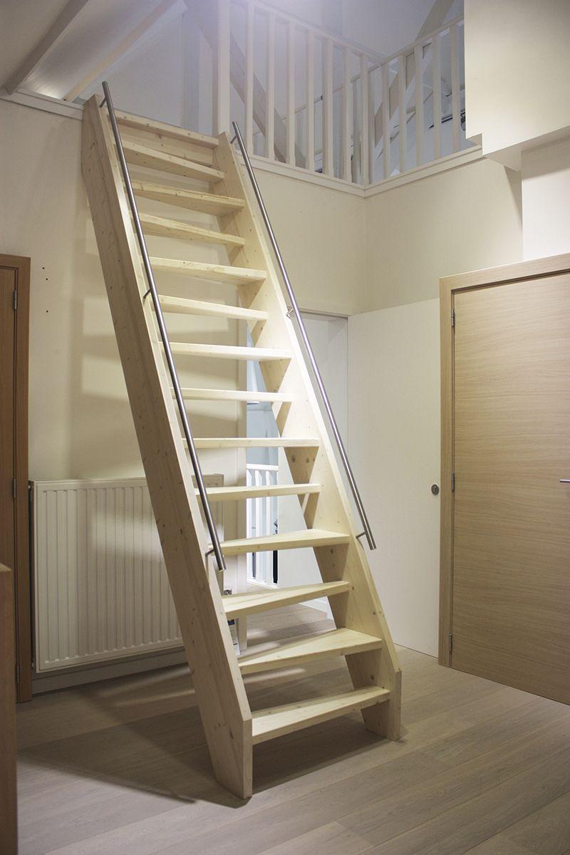 houten plaatsbesparende ganzetrap gang trap in 2019