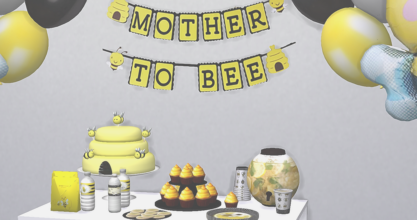 Bee Baby Shower Set Ydb Sims Baby Sims 4 Shower Set