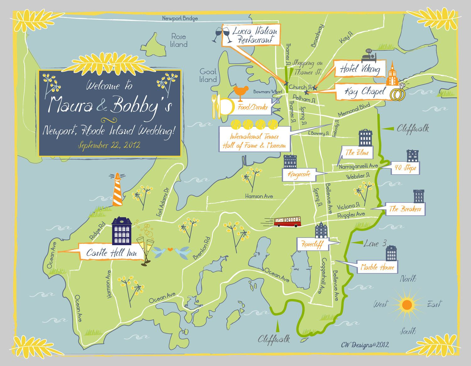 Wedding Event Map Invitation Save The Date Program Or