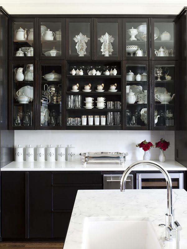 Bye Bye White Hello Dark Kitchen Cabinets Garden Pinterest