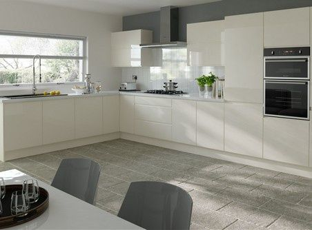Ringmer Ivory Kitchen Doors Gloss Kitchen Cabinets High Gloss