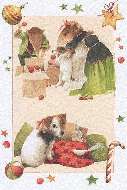 Vera et son chien saar dans les cadeaux de no l - Bastin de bois ...