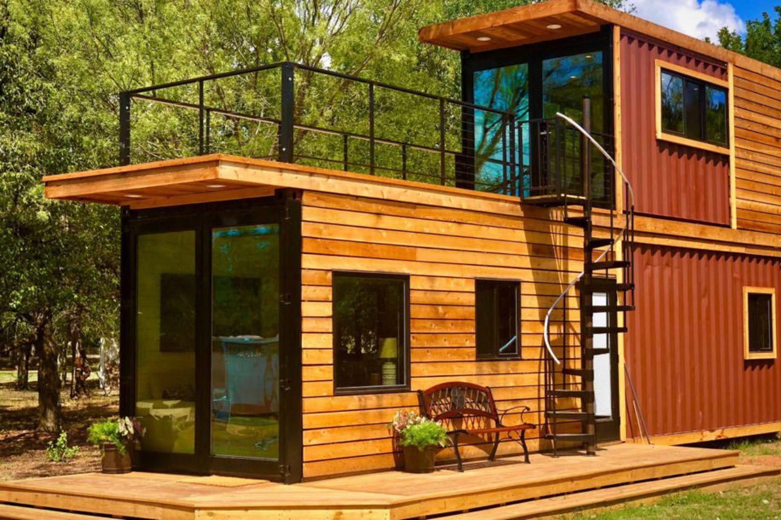 Shipping Container Home Has A Sweet Roof Terrace Curbed Buildingadeck Cargo Home Container Homes For Sale Container House