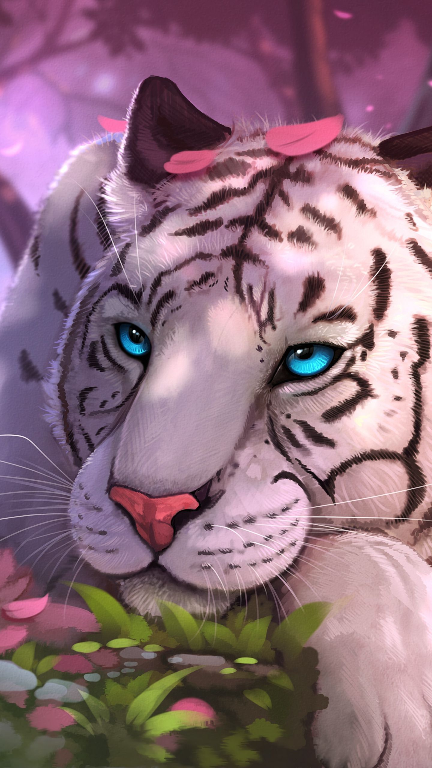 See My Collection Of Awesome Iphone And Android Blue Wallpapers And Background Images In Ultra High Defin Tiger Spirit Animal Cute Animal Drawings Big Cats Art
