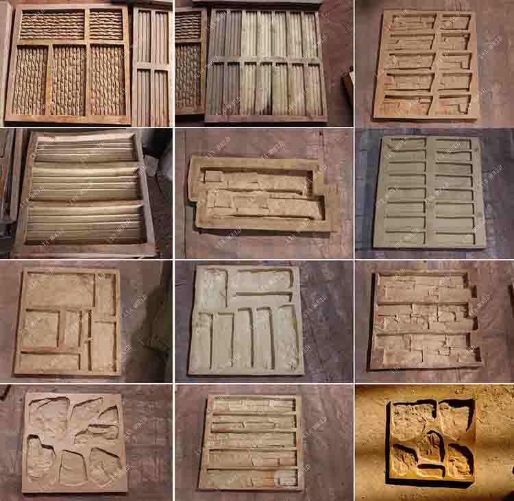 Resultado de imagen para moldes para hacer piedras - Piedra artificial para fachadas ...