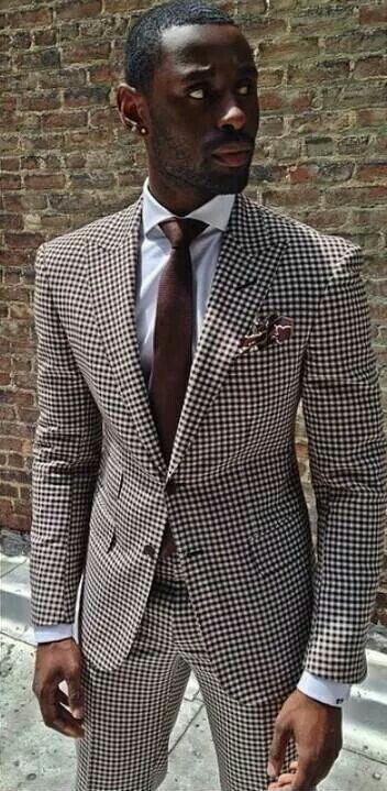 Style vestimentaire original look atypique homme l gant coupe classique costume marron et - Costume original homme ...