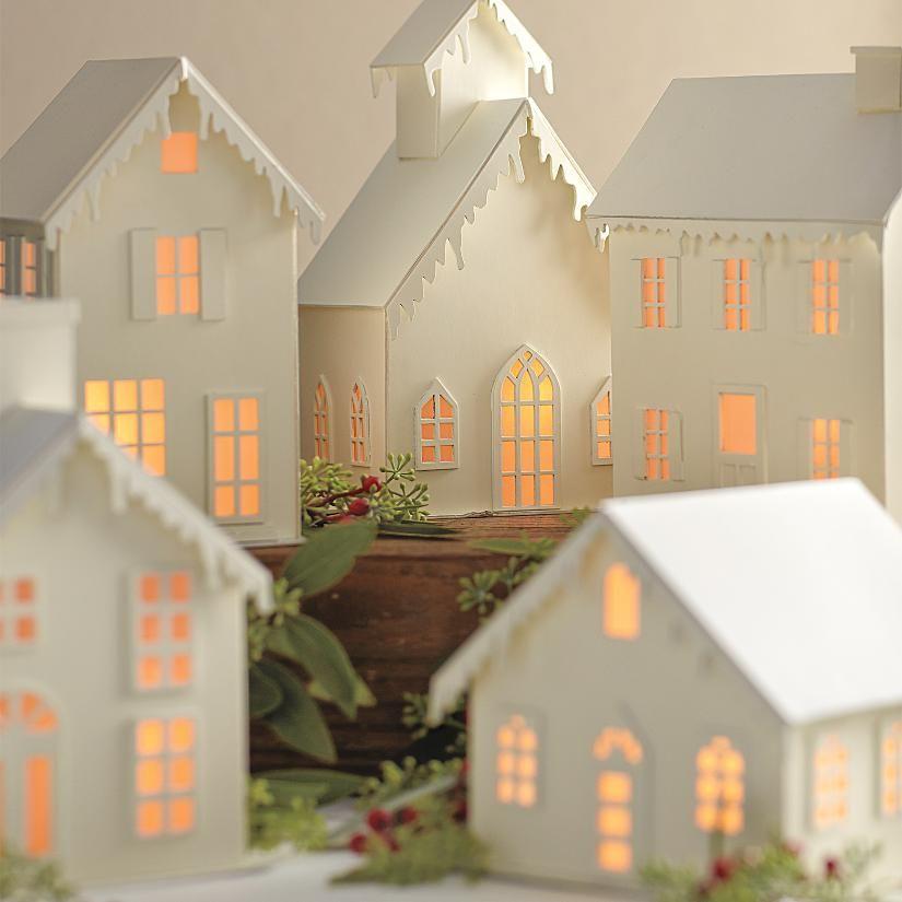 Christmas village kunstwerke aus papier pinterest weihnachten diy deko weihnachten und - Selbstgemachte weihnachtsdeko ...