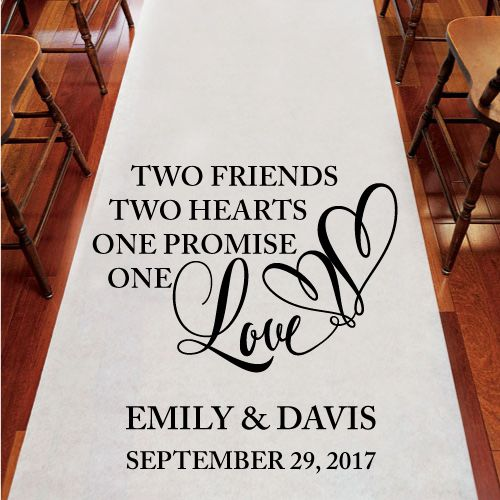 Two Friends Personalized Wedding Aisle Runner – Wedding