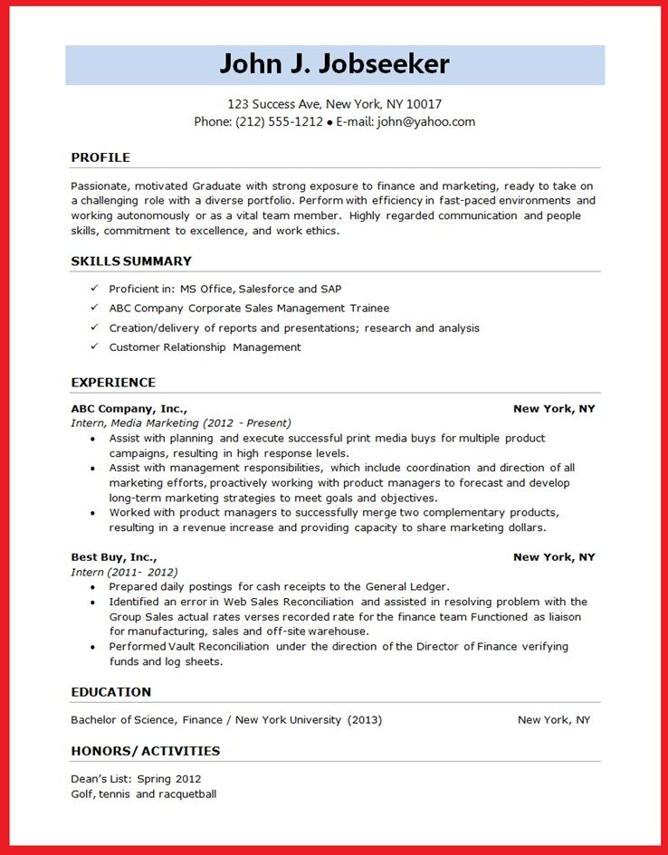 resume format - Google Search Resumes \/ designs Pinterest - best resume format for freshers