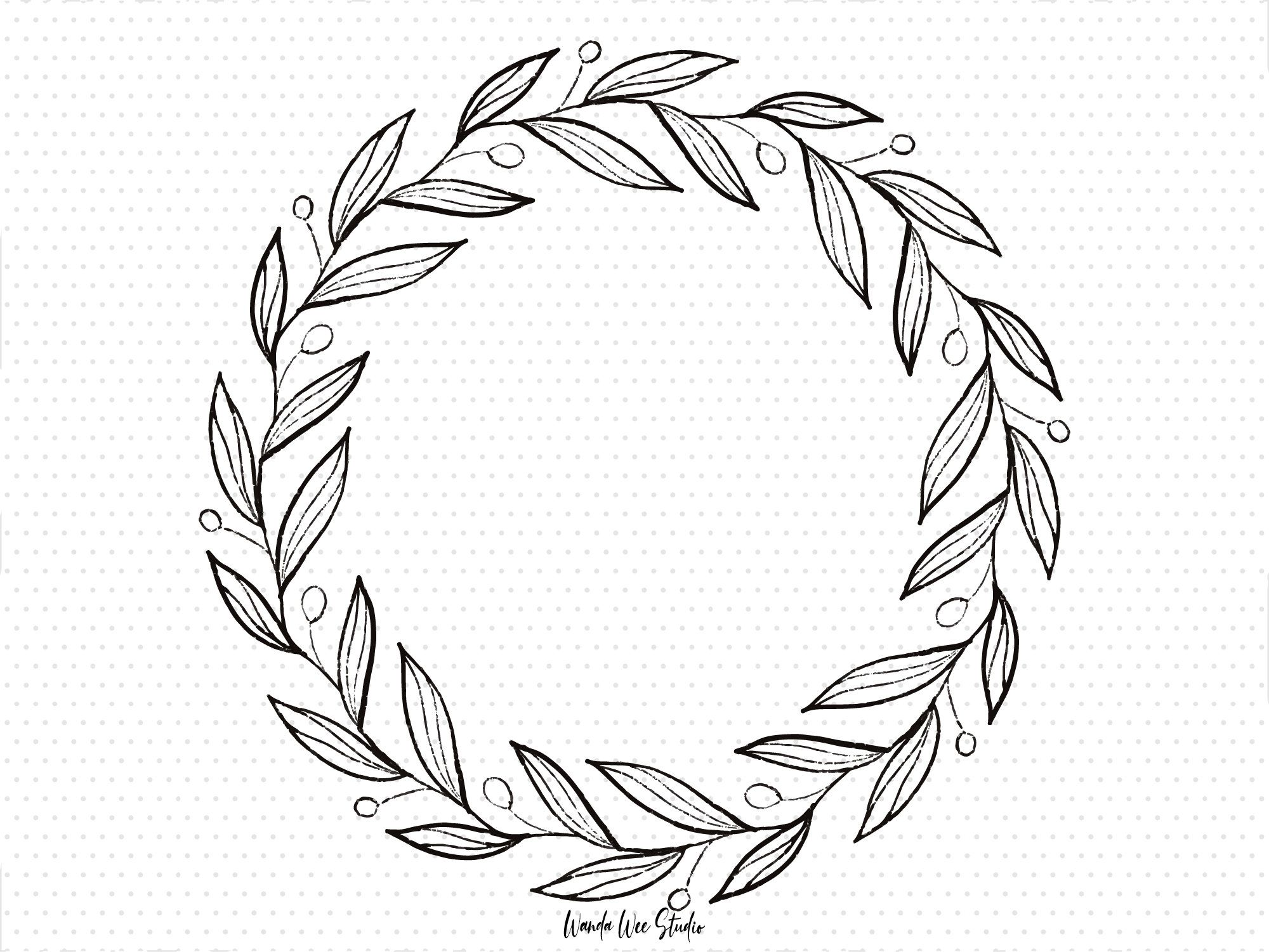 25+ Wreath Clipart Black And White