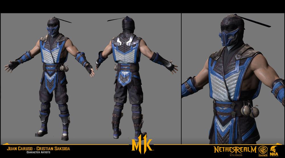 Artstation Sub Zero Present Mortal Kombat 11 3 Juan Caruso Mortal Kombat Character Art Caruso