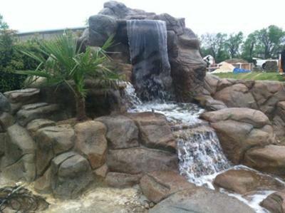 Concrete waterfalls lexington kentucky repin click for for Pool designs lexington ky