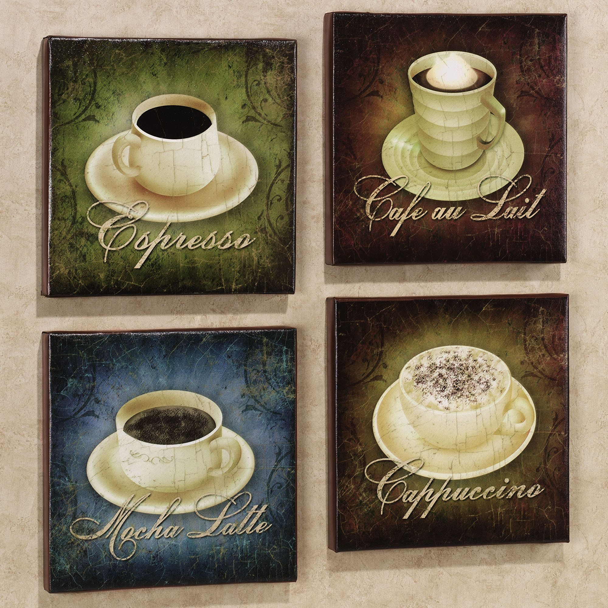 coffee rugs Home Coffee Canvas Set Set of Four