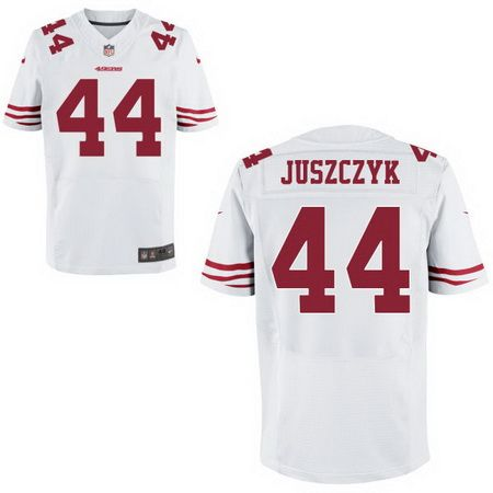 Men's San Francisco 49ers #44 Kyle Juszczyk White Road Stitched NFL Nike Elite Jersey