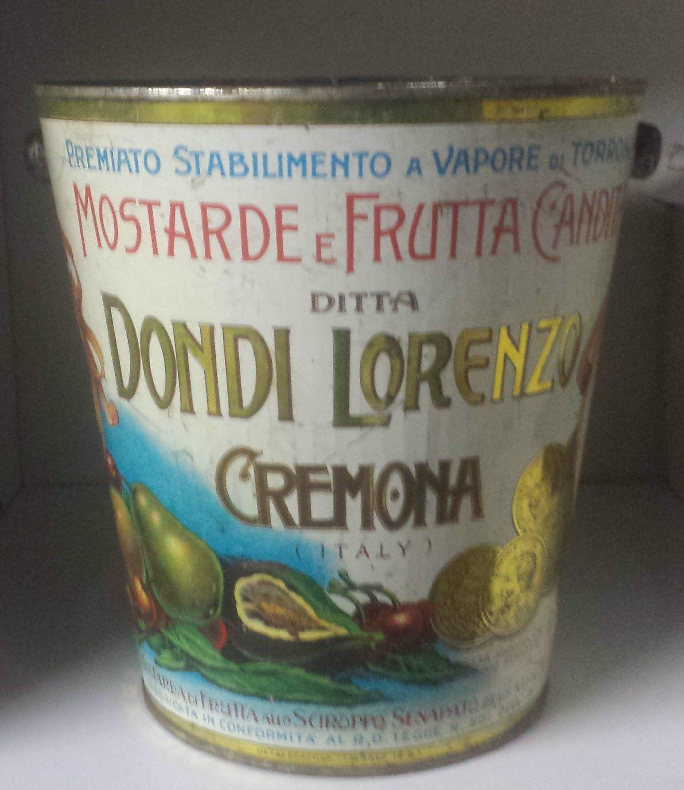 SCATOLA DI LATTA ANNI 1920 DONDI LORENZO CREMONA | eBay