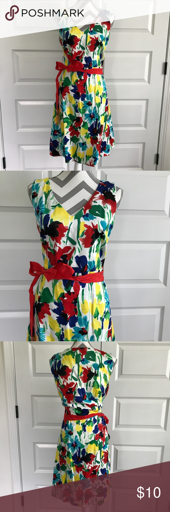 Bright primary color dress primary colors ribbon belt and bright