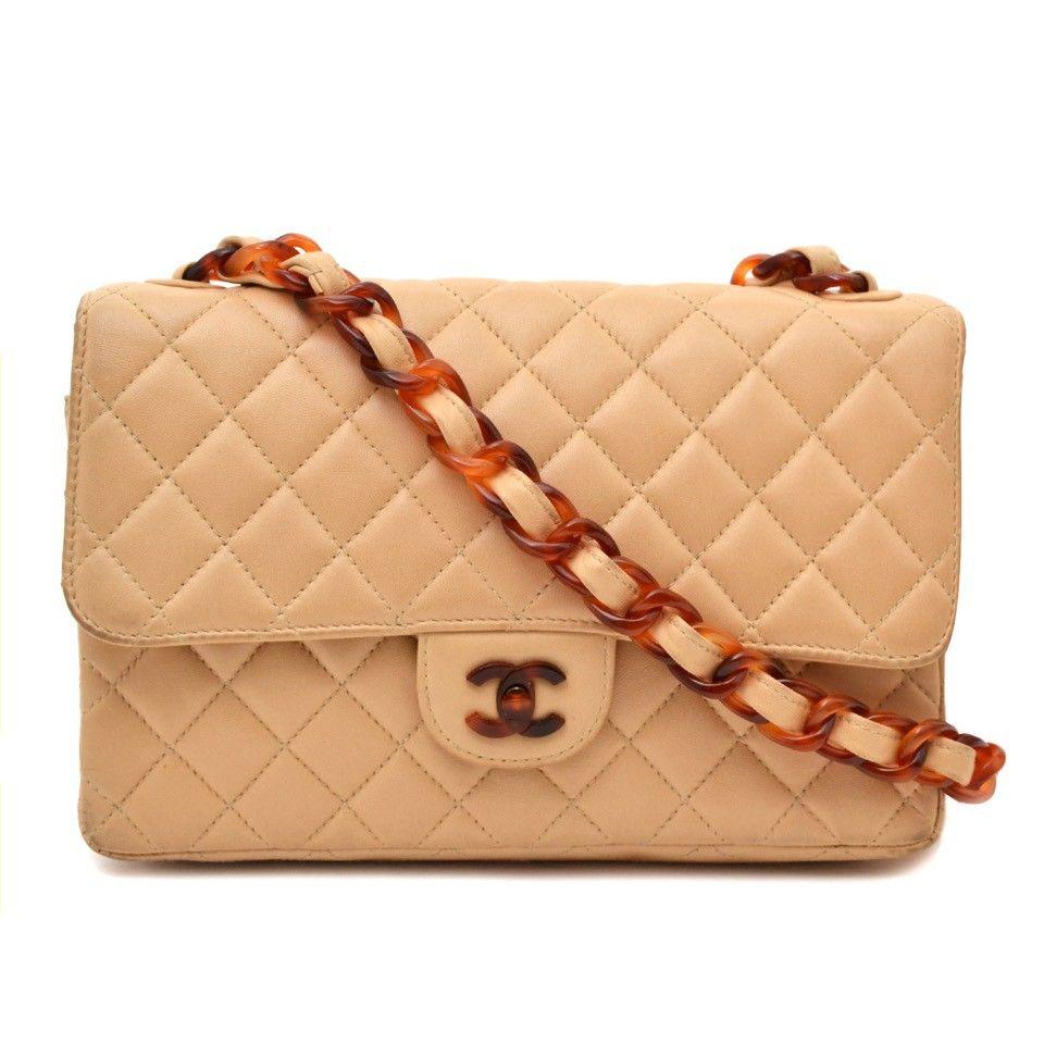 2f927e90011e Chanel Classic Flap Bag Nude with Tortoise Details