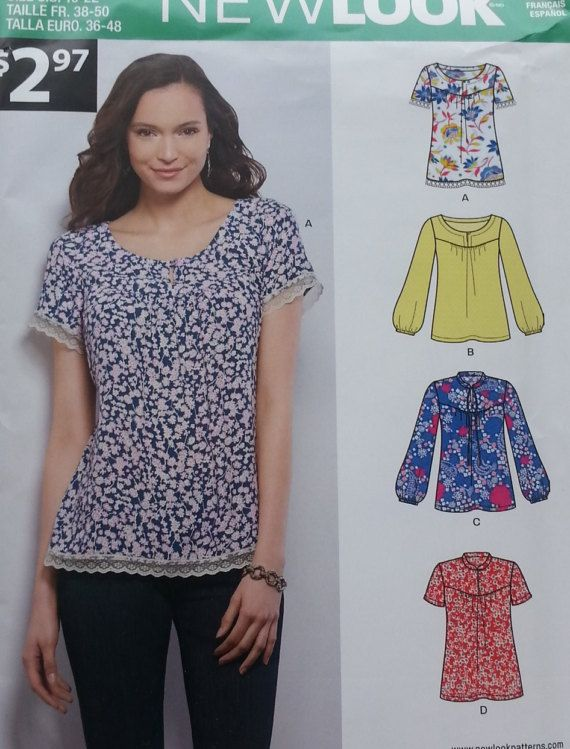78637a2d2e7620 Misses Plus Size 10-22 Top Pattern Newlook 6395 by GrannysThimble ...