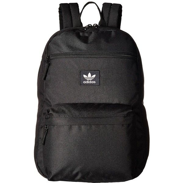ad1de9589d6e adidas Originals National Backpack (Black) Backpack Bags (45 AUD) ❤ liked  on Polyvore featuring bags