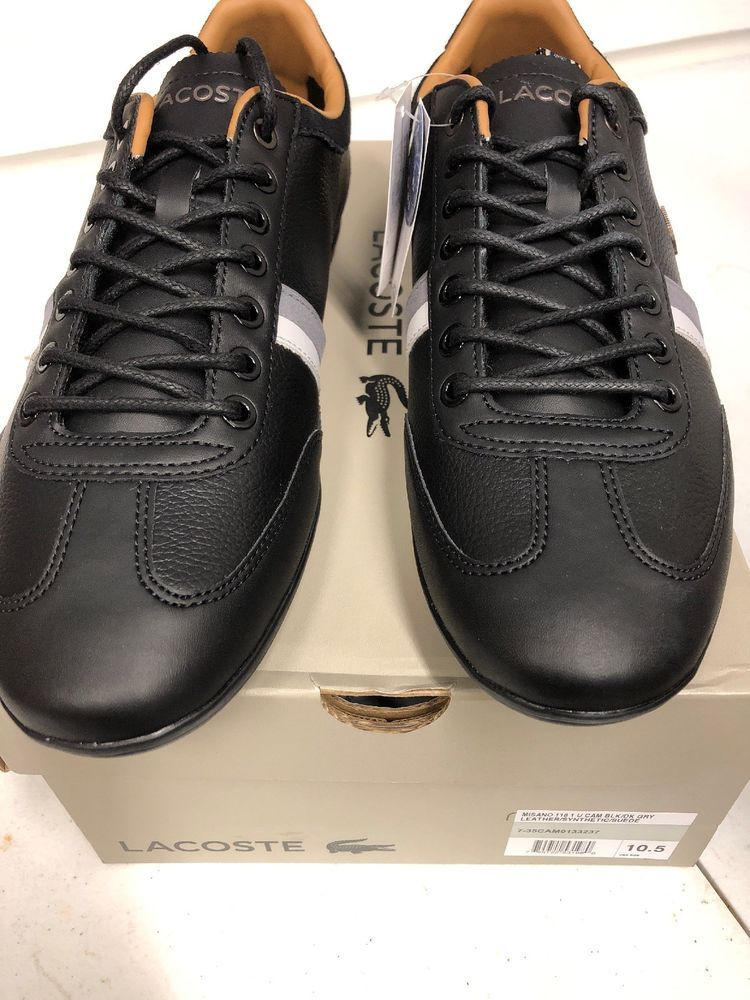 8004b8c8649cbf Lacoste Misano Black Grey Mens 35CAM0133-237  fashion  clothing  shoes   accessories  mensshoes  casualshoes (ebay link)