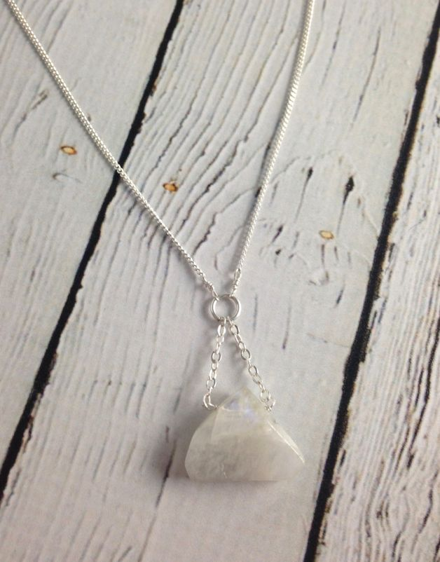 Sterling Silver Penny Weight Moonstone Necklace