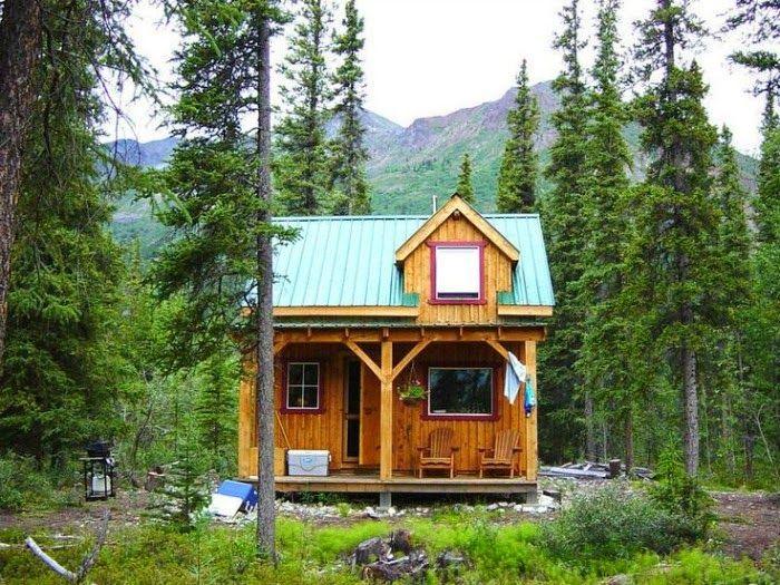 Caba as caba as peque as pinterest caba as casas y - Cabanas de madera pequenas ...