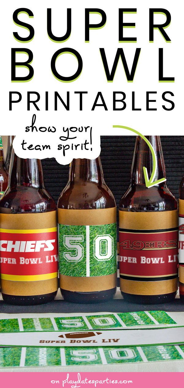 Super Bowl Printables to Make your Game Day Party Awesome
