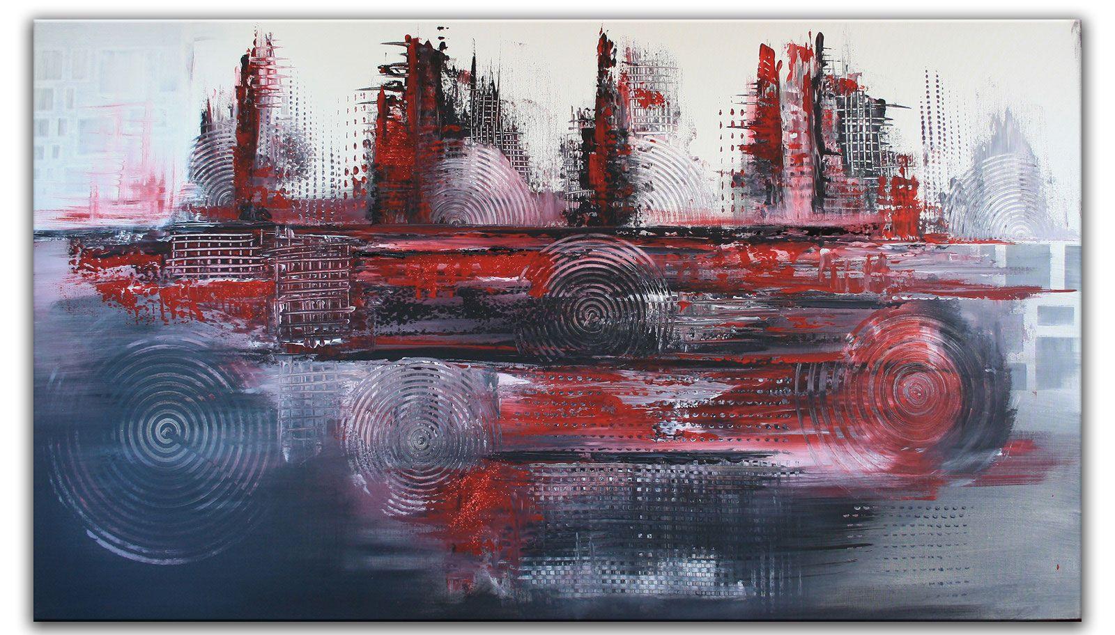 abstrakte malerei acrylbild strukturbild grau rot abstrakt acrylmalerei acryl kunst malen nach zahlen