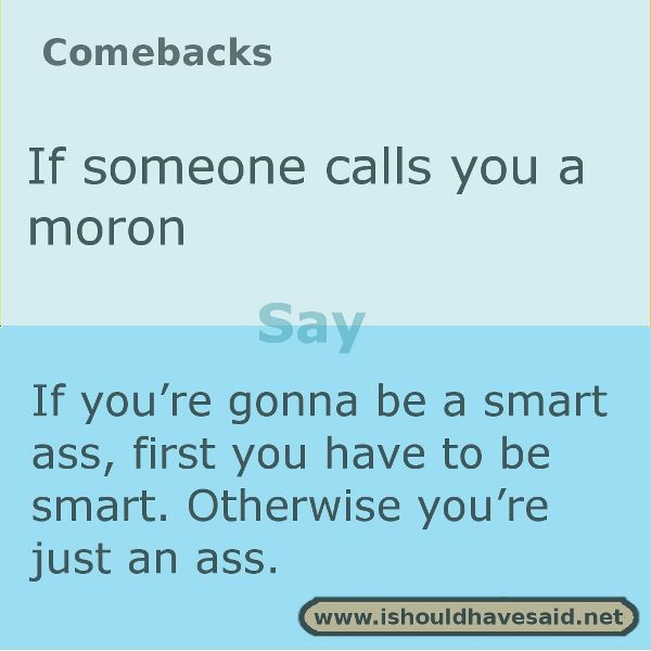 Smart responses to insults
