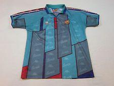 47a314f13e07c1 VINTAGE 1995-1997 FC Barcelona Kappa Football Soccer Away Shirt Jersey Large