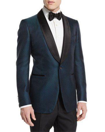 d7b31264dc79 Buckley-Base Mesh-Print Tuxedo Jacket Green/Black in 2019 | Groomba ...