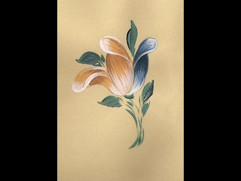 ▶ White Baroque Rose Bauernmalerei, Decorative Painting Online Art Classes - YouTube