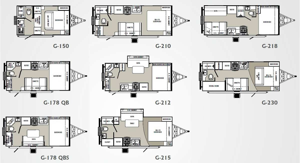 micro floor plans Palomino Gazelle micro lite travel trailer