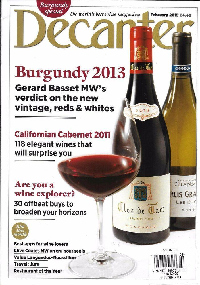 Decanter Wine Magazine Burgundy California