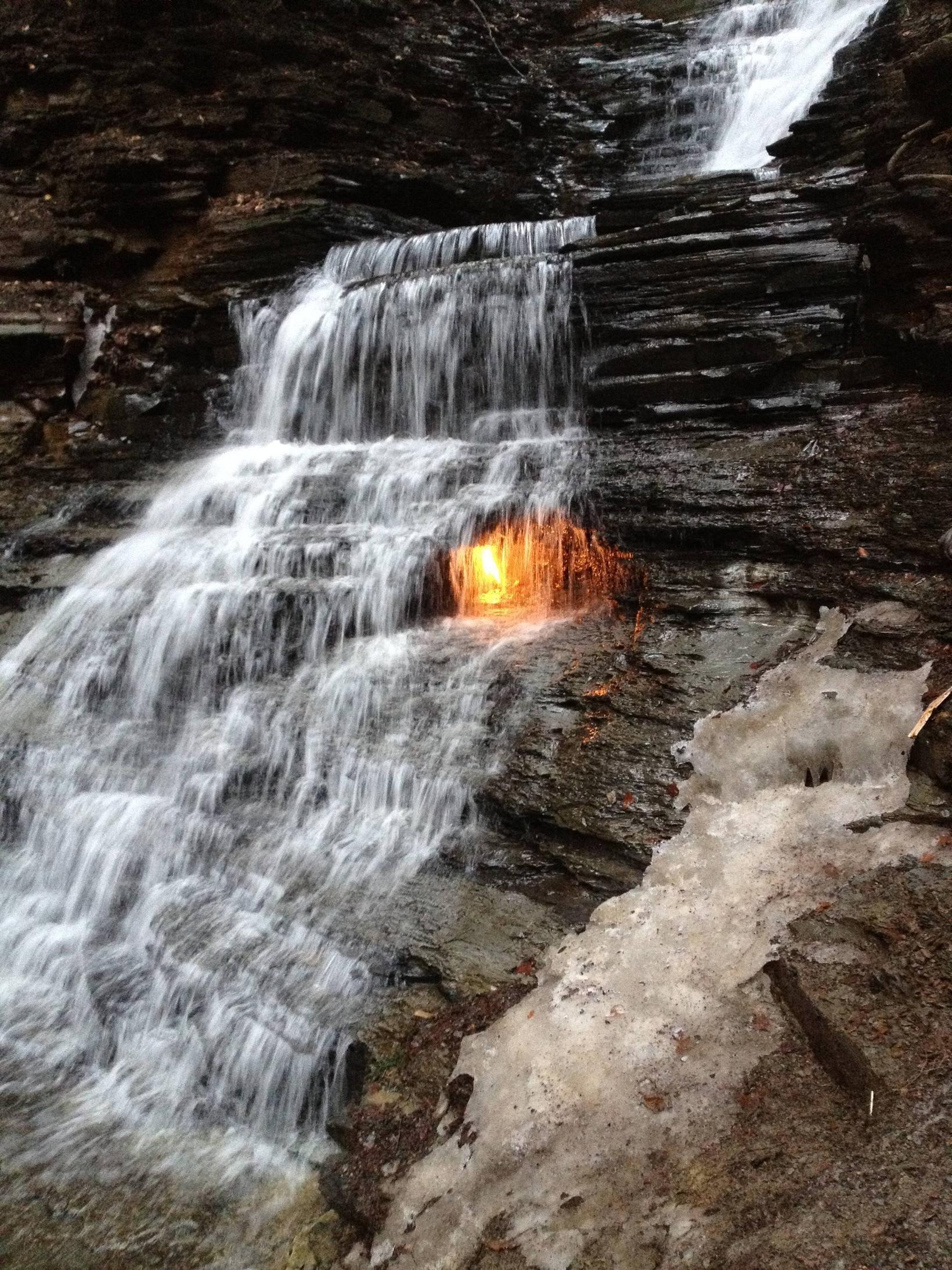 Chestnut Ridge Park Eternal Flame Falls Located Chestnut Ridge - Where is buffalo located