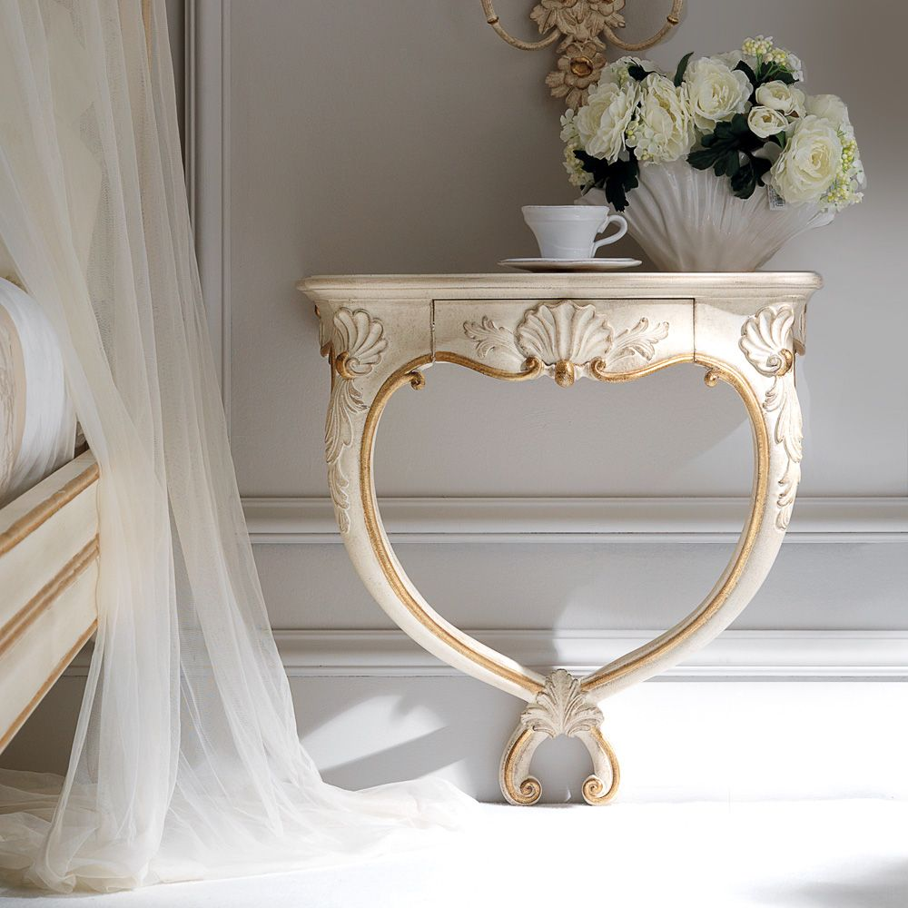 High End Ornate Wall Mounted Bedside Table