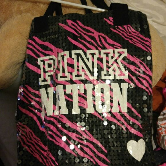 Pink victoria secret bag Small Victoria secret tote Victoria's Secret Bags Mini Bags