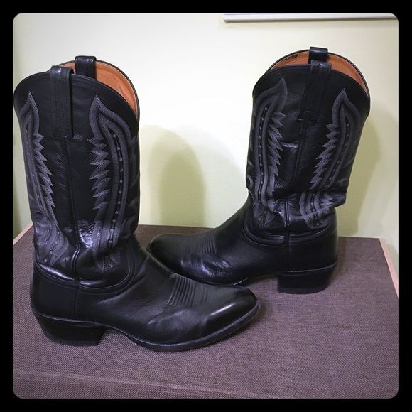 host lucchese 2000 kangaroo cowboy boots fit ea