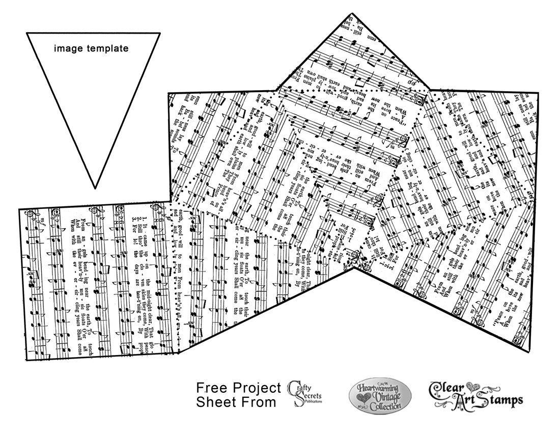 FREE Printable Pyramid Box w/ Christmas Music | PAPEL | Pinterest ...