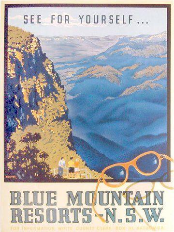 Katoomba Blue Mountains Australia Places Vintage