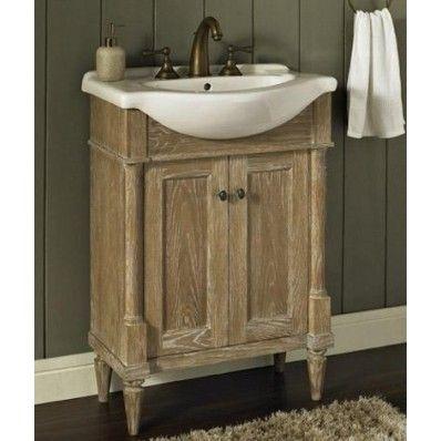 Rustic Chic 26 Inch Bathroom Vanity And Sink 142 V26 Bathroom