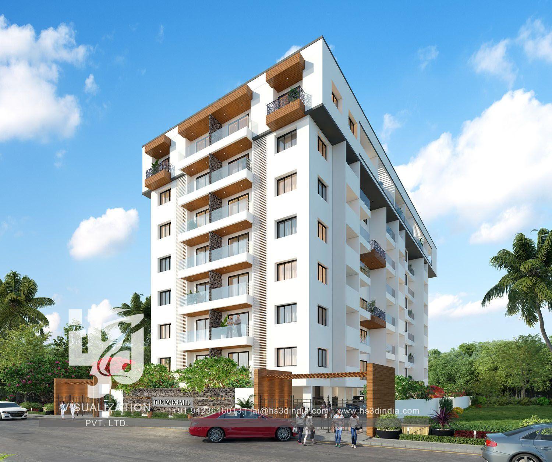 Residential Exterior Services: Residential Apartment Facade Design, CA, USA