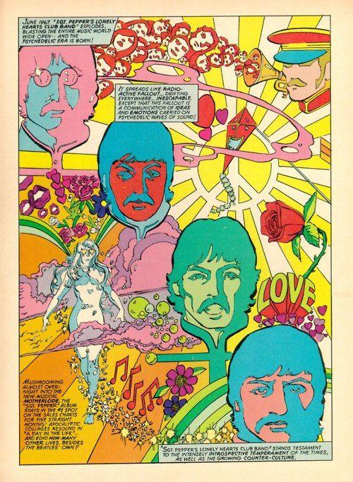 The Beatles | Beatles art, Hippie art, Psychedelic poster