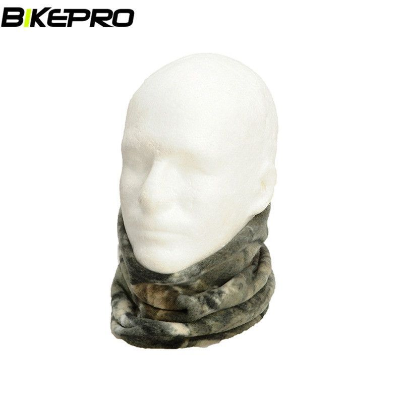 Tactical Outdoor Winter Woodland Camouflage Warm Fleece Scarves Balaclava Mask Camping Sniper Scarf Bandana Scarves