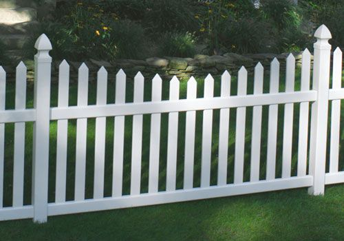 Pvc Fencing Per Foot 3 Rail White Picket Fence