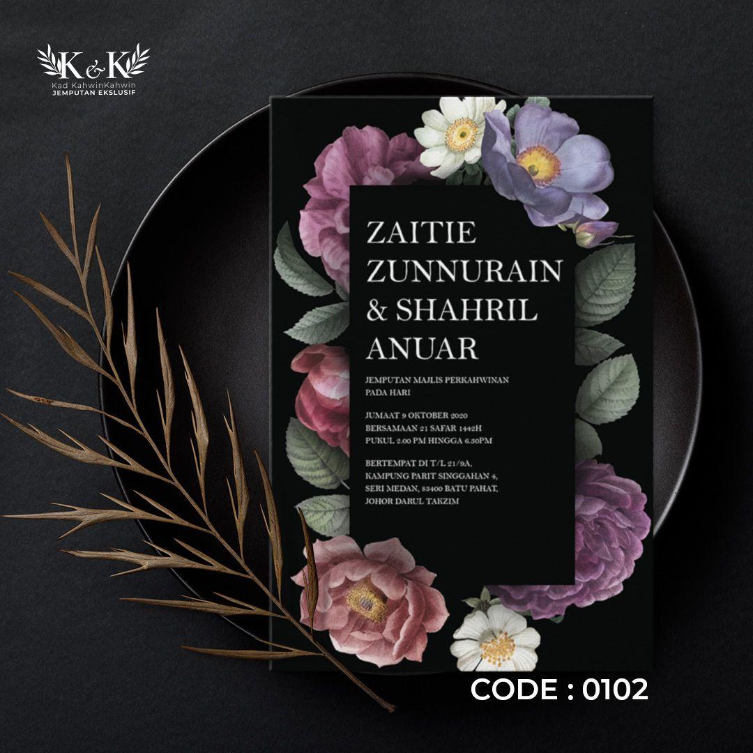Kad Kahwin Floral Kad Jemputan Kahwin Floral Wedding Invitation In 2021 Floral Wedding Invitations Floral Wedding Wedding