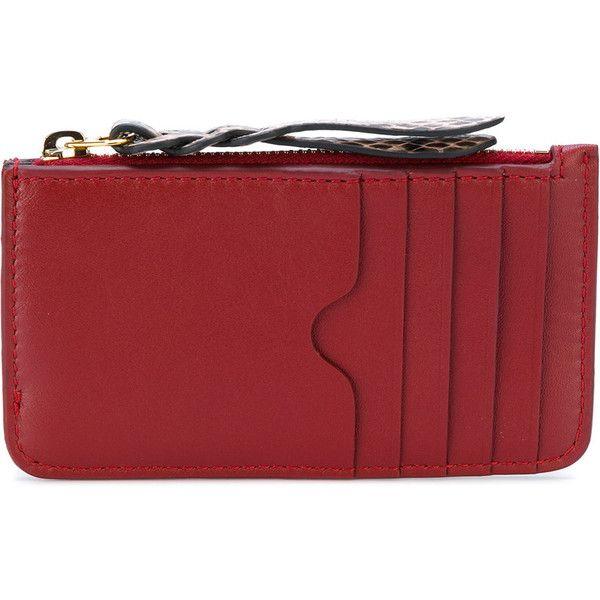 woven zip coin purse - Red Alexander McQueen nvYV0G