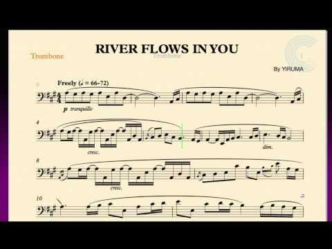 Sheet music river flows in you