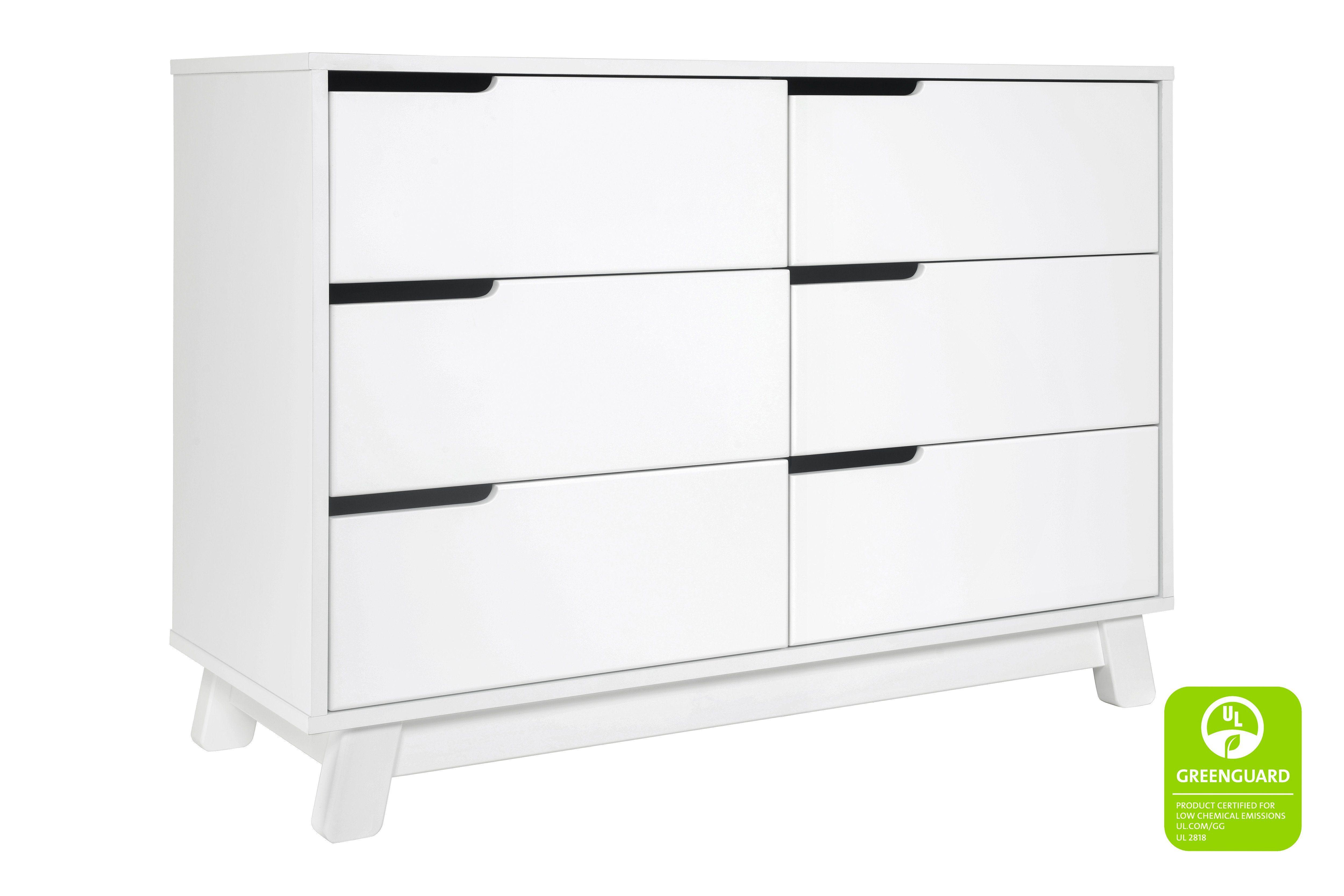 Hudson 6 Drawer Assembled Double Dresser In 2021 Double Dresser Drawers Stylish Nursery [ 3333 x 5000 Pixel ]